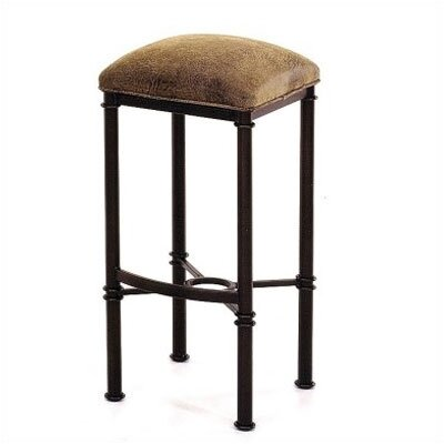 """Tempo Hermosa 26"""" Bar Stool with Cushion - Finish: Espresso, Upholstery : Ford Espresso"""