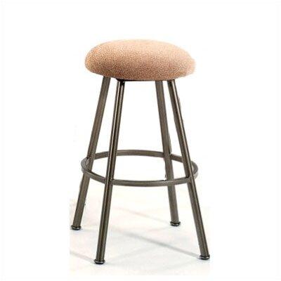 """Tempo Arlington 34"""" Bar Stool with Cushion - Swivel: No, Finish: Midas, Upholstery : Bacova Barley"""