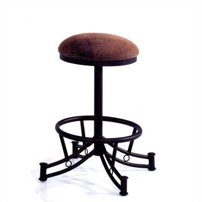 """Tempo Winslow Wide 26"""" Bar Stool - Base Finish: Putty, Upholstery Color: Bella Chocolate, Seat: Standard"""