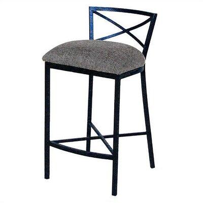 "Tempo Duncan 30"" Bar Stool with Cushion - Base Finish: Cappuccino, Upholstery : Bacova Barley, Seat: Standard"