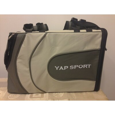 Sports Backpack Pet Carrier Color: Grey/Beige