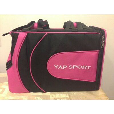 Sports Backpack Pet Carrier Color: Pink/Black