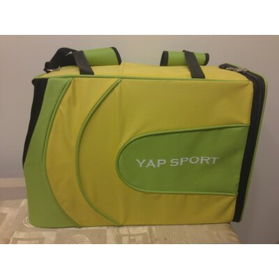 Sports Backpack Pet Carrier Color: Yellow/Green