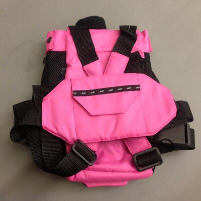 Hobbes Sak Pet Carrier Size: Large (18 H x 11 W), Color: Pink