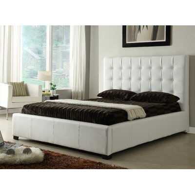 Furniture-Athens Storage Panel Bed Size Queen, Color White