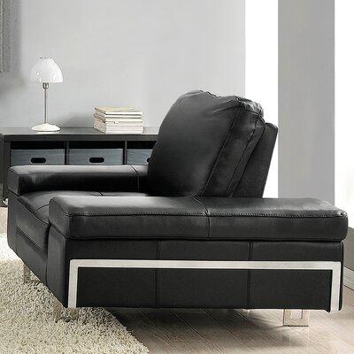 Gia Armchair Upholstery: Ebony
