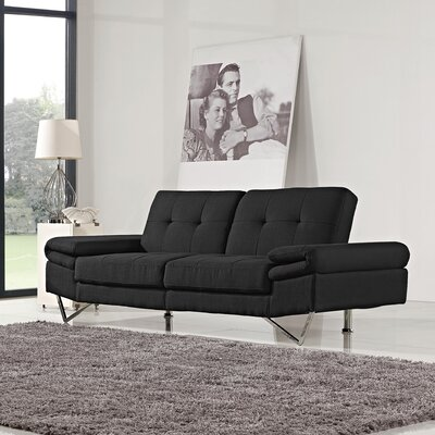 Convertible Sofa Upholstery: Black