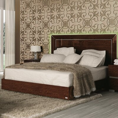 Furniture-Live Panel Bed Size Queen, Finish Walnut Lacquer