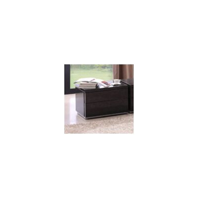 Furniture-Athens 2 Drawer Nightstand Color Grey High Gloss