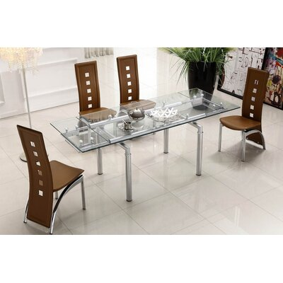 Lazzaro Extendable Dining Table Top Finish Camel
