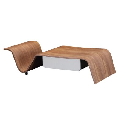 Arnau Coffee Table with Magazine Rack