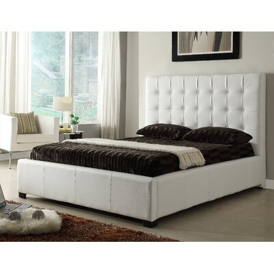 Athens Upholstered Storage Platform Bed Size: King, Color: White