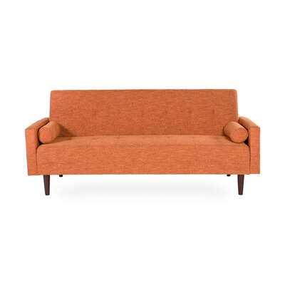 VItalia Sleeper Sofa Upholstery Color: Orange