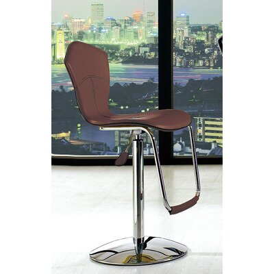 Adjustable Height Swivel Bar Stool (Set of 2) Upholstery: Brown