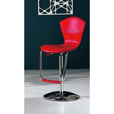 Adjustable Height Swivel Bar Stool (Set of 2) Upholstery: Red