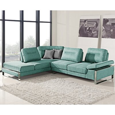 At Home 1372 Aqua-LEFT Verona Sectional