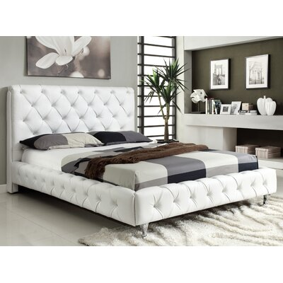 Maria Upholstered Platform Bed Size: King