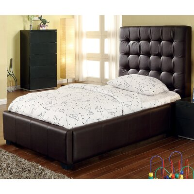 Athens Twin Upholstered Storage Platform Bed Color: Chocolate
