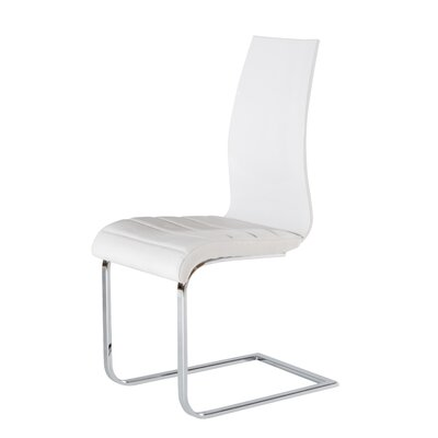 Upholstered Dining Chair (Set of 2) Upholstery: White
