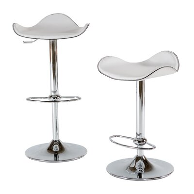 22 Swivel Bar Stool (Set of 2) Upholstery: White