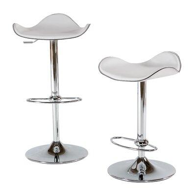 22 Swivel Bar Stool (Set of 2) Upholstery: White