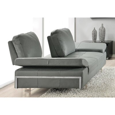 Gia Leather Sofa Upholstery: Gray