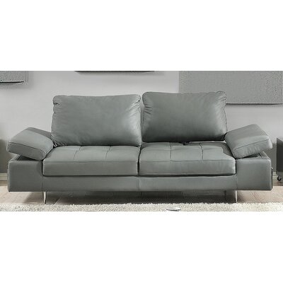 Gia Leather Sofa Upholstery: Gray
