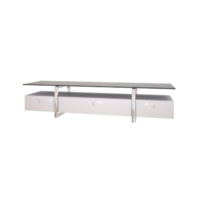 71 TV Stand Color: White Lacquer