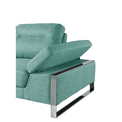 Kealy Sofa Reclining Sectional Upholstery: Aqua, Orientation: Left Hand Facing