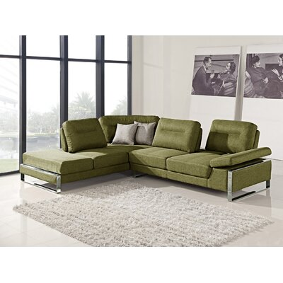 Kealy Sofa Reclining Sectional Upholstery: Green, Orientation: Left Hand Facing