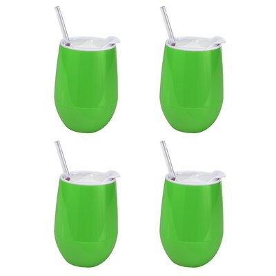 Fun & Sun Wine Cup Color: Lime O-FS-WINE-XLM-X4