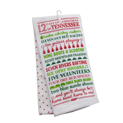 12 Days of Christmas Tennessee 2 Piece Towel Set