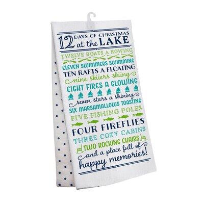 12 Days of Christmas Lake 2 Piece Towel Set