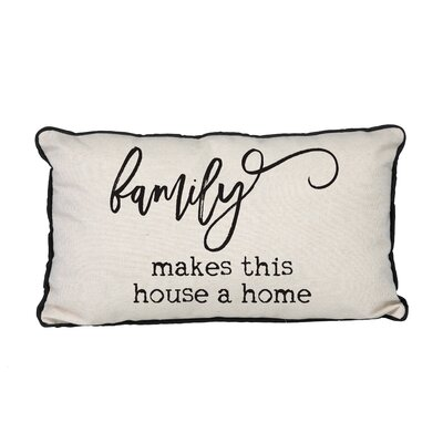 Canvas Family Makes This House a Home Linen Lumbar Pillow