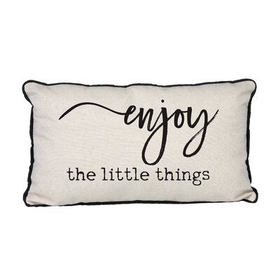 Canvas Enjoy the Little Things Linen Lumbar Pillow