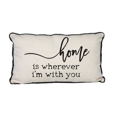 Canvas Home is Wherever Im with You Linen Lumbar Pillow
