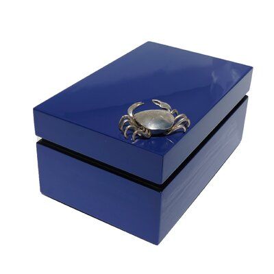 Rectangular Box with Crab Color: Dazzling Blue