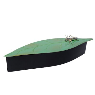 Oblong Leaf Box with Cricket DL1003-SGG