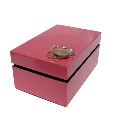 Rectangular Box with Crab Color: Papaya