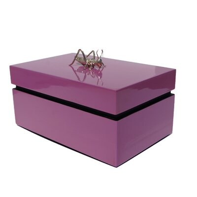 Rectangular Box With Cricket Color: Dusty Rose