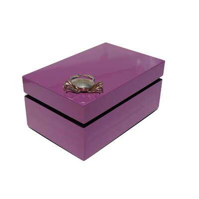 Rectangular Box with Crab Color: Dusty Rose