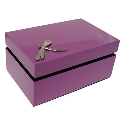 Rectangular Box With Dragonfly Color: Dusty Rose