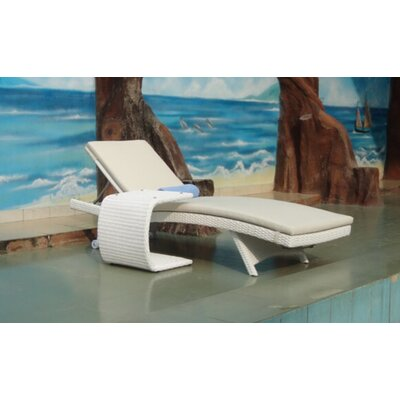 Riviera Chaise Lounge with Cushion Finish/Fabric: White