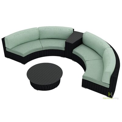 Eichhorn 4 Piece Deep Seating Group with Cushion Finish: Coffee Bean, Fabric: Canvas Spa