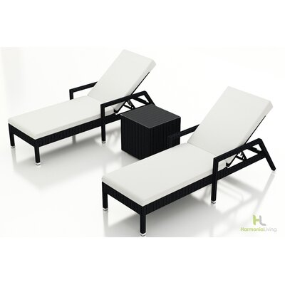 Eichhorn 3 Piece Lounge Seating Group with Cushion Fabric: Canvas Natural, Finish: Coffee Bean