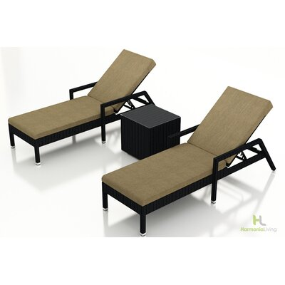 Eichhorn 3 Piece Lounge Seating Group with Cushion Fabric: Heather Beige, Finish: Coffee Bean