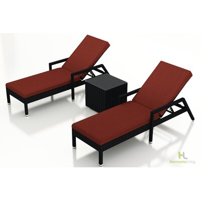 Eichhorn 3 Piece Lounge Seating Group with Cushion Fabric: Canvas Henna, Finish: Coffee Bean