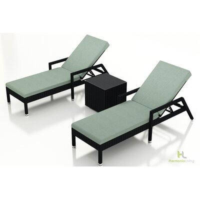 Eichhorn 3 Piece Lounge Seating Group with Cushion Fabric: Canvas Spa, Finish: Coffee Bean