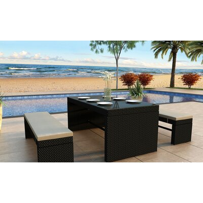 Skyline 3 Piece Dining Set Finish: Black