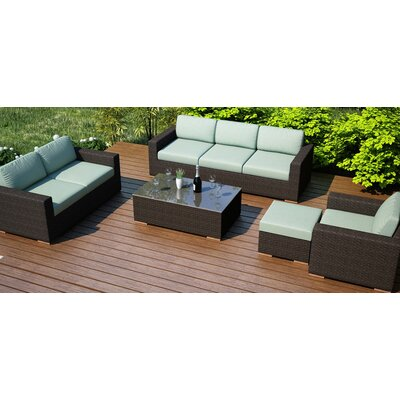 Arden 5 Piece Lounge Seating Group with Cushion Fabric: Canvas Spa
